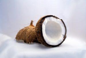 offene kokosnuss kokosoel